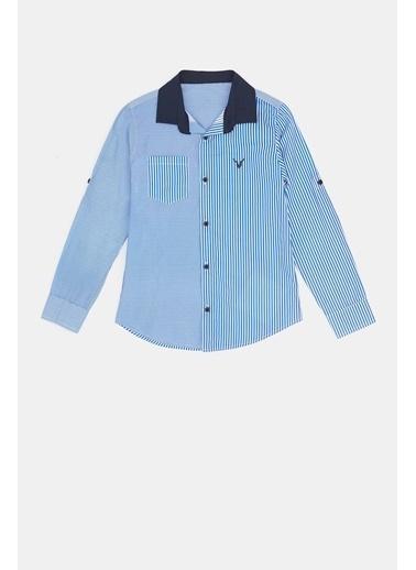 Nebbati Erkek Çocuk Çizgili Gömlek 20Fw0Nb3607 Renkli